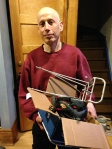 Steve, from St. Paul donated some great gear to share with our clients – lights, a rack, a helmet and leg bands.